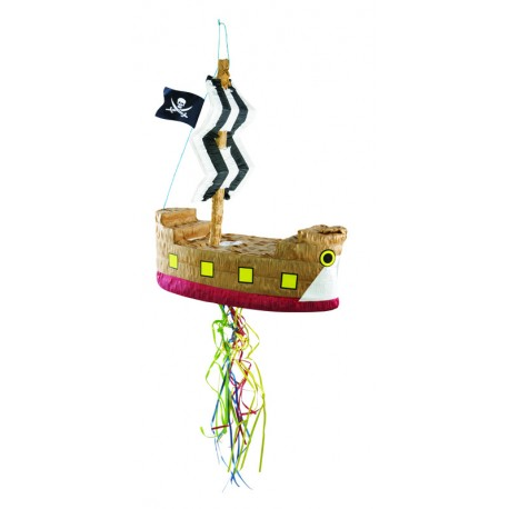Pinata de Bâteau de Pirate 45cm - Décoration anniversaire pinata The Duck