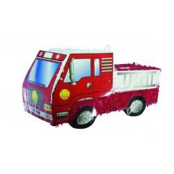 Pinata Camion de Pompier rouge 50cm