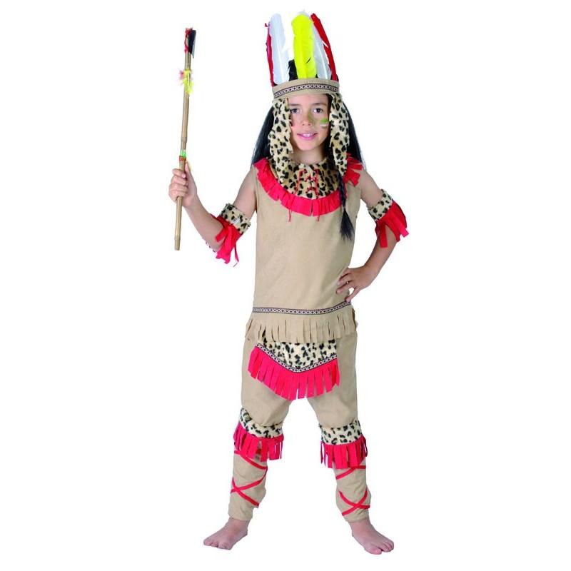 d guisement d 39 indien beige rouge enfant costumes d 39 indiens sur the. Black Bedroom Furniture Sets. Home Design Ideas