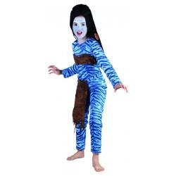 Déguisement avatar femme bleu - Costume avatar fille dessin animé The Duck