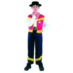 Déguisement de Cow-Boy noir & rouge Enfant - Costume western enfant - Déguisement western enfant The Duck