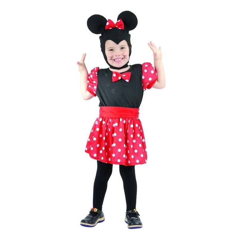 d guisement de souris rouge noire fille minnie costumes animaux sur the. Black Bedroom Furniture Sets. Home Design Ideas