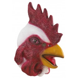 Masque de Coq rouge & blanc Adulte - Costume animaux - Déguisement animaux The Duck