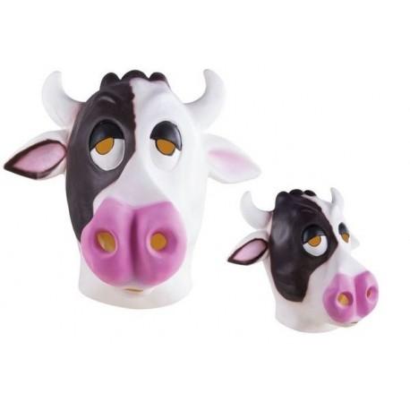 Masque de Vache noir & blanc Adulte - costume animaux - déguisement animaux The Duck