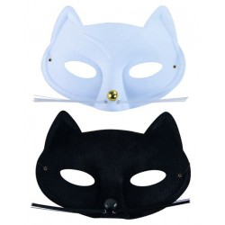 Masque Loup de Chat à moustache Adulte