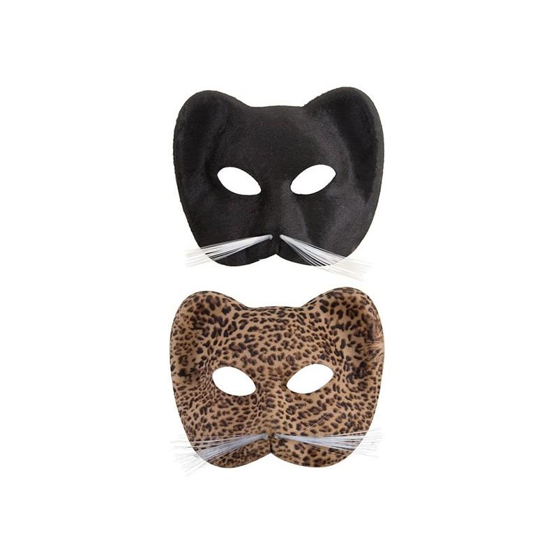 138754dcda02d1 Masque loup de chat en tissu suédé Adulte - costume animaux - déguisement  animaux The Duck ...