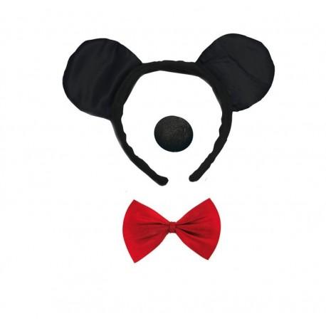 Kit de Déguisement de souris noire Adulte - Costume animaux - Déguisement animaux The Duck