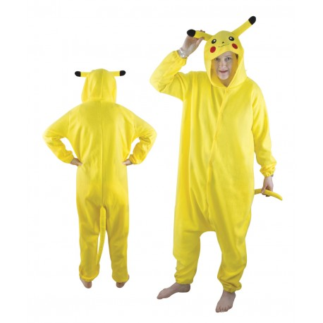 d guisement de pikachu kigurumi adulte jaune costumes manga jeux vid os sur the. Black Bedroom Furniture Sets. Home Design Ideas