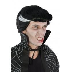 Perruque de Vampire Noir & Blanc Homme DRACU