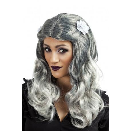Perruque de Zombie Femme grise - Déguisement zombie femme The Duck