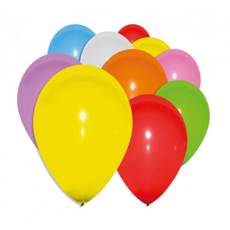 Lot de 10 Ballons Couleurs Assorties - Déguisement décoration anniversaire The Duck