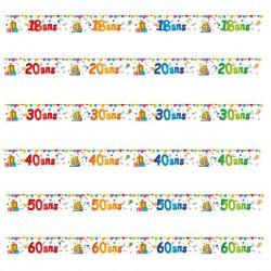 Bannière d'Anniversaire Âge Multicolore 2,4m