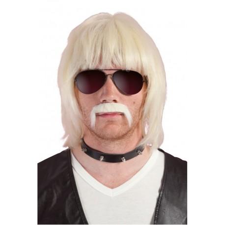 Perruque et moustache longue adulte BOBBY - Déguisement année 80 adulte The Duck
