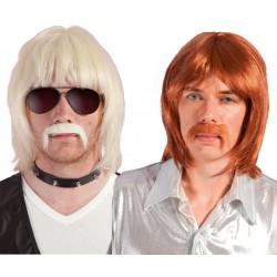 Perruque et moustache longue adulte BOBBY