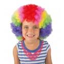 Perruque de Clown Afro multicolore Enfant