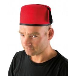 Chapeau Oriental Fez Rouge Adulte