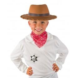 Kit de Cow Boy Enfant : chapeau, foulard et étoile