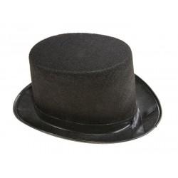 Chapeau Haut de Forme Noir Adulte 12cm