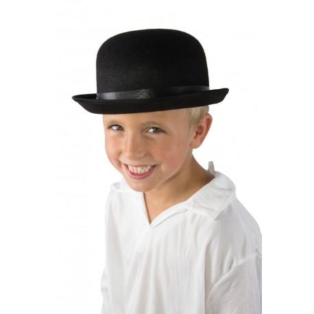 Chapeau Melon Enfant feutre noir - Déguisement Année 20 Adulte The Duck