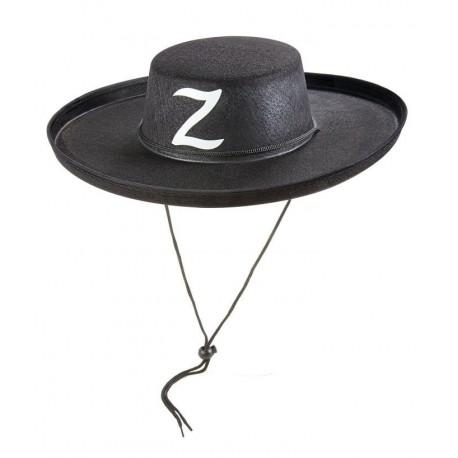 Chapeau de Zorro Adulte feutre noir - Déguisement Zorro Adulte Film The Duck