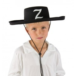 Chapeau Zorro Enfant feutre noir - Déguisement Zorro Enfant Film The Duck
