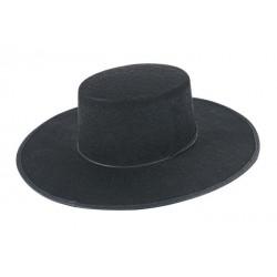 Chapeau de Bandit Espagnol Adulte feutre noir - Déguisement Justicier Adulte The Duck