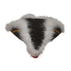 Chapeau de Marquis Adulte feutre noir & blanc
