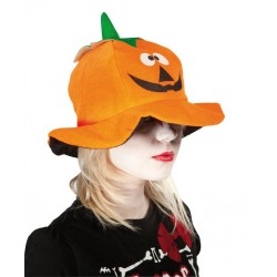 Chapeau de Citrouille Adulte orange - Déguisement Citrouille Adulte Halloween The Duck