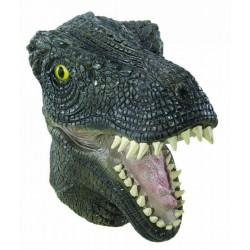 Masque de T-Rex Adulte vert intégral