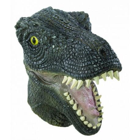 Masque de T-Rex Adulte vert intégral - Déguisement t-rex adulte Animaux The Duck