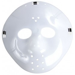 Masque de Hockey Blanc Adulte