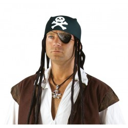 Chapeau Foulard de Pirate Adulte noir - Déguisement pirate adulte carnaval The Duck