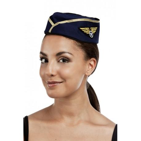 Chapeau Calot D Hotesse De L Air Femme Bleu Marine Chapeaux