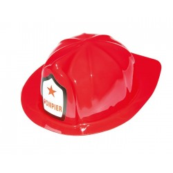 Casque de Pompier Adulte rouge
