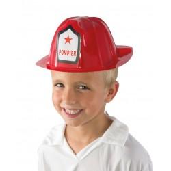 Casque de Pompier Enfant rouge