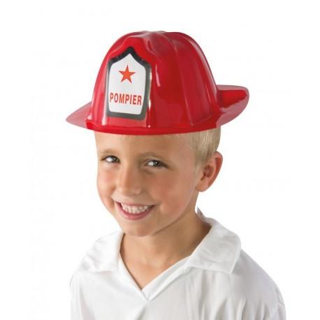 Casque de Pompier Enfant rouge - Déguisement pompier enfant Carnaval The Duck