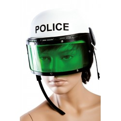 Casque de Policier Adulte blanc