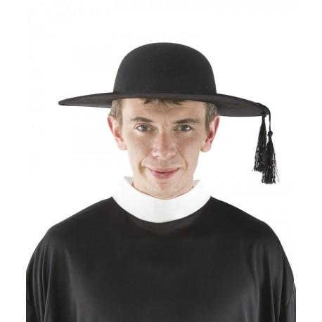 Chapeau de Curé de Campagne Adulte noir - Déguisement prêtre adulte religion The Duck