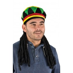 Béret de Rasta Adulte avec dreadlocks