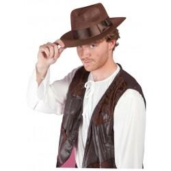 Chapeau d'Aventurier Adulte marron
