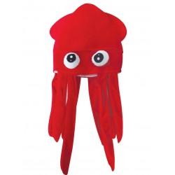 Chapeau Poulpe Adulte rouge