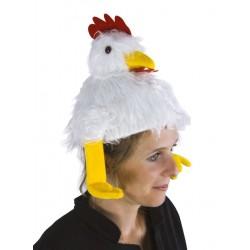 Chapeau de Poule Blanche Adulte