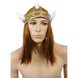 Casque de Viking Adulte à pointes blanches