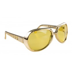 Lunettes Rockeur Adulte Or - Déguisement Elvis Adulte Rock N Roll - Costume rockeur adulte The Duck