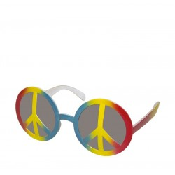 Lunettes Hippie Multicolore Adulte - Déguisement hippie adulte - Costume hippie adulte The Duck