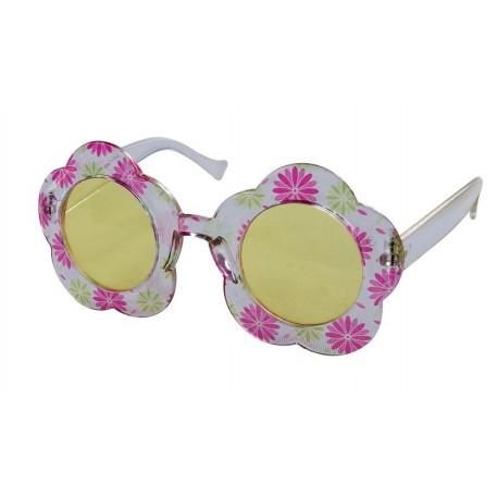 code promo ce6a0 8a476 Lunettes de Hippie à Fleurs Adulte rose & blanc