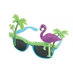Lunettes Hawai Adulte Plamier & Flamant - Déguisement hawaïen adulte The Duck