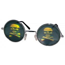 Lunettes Hologrammes Tête de Mort Adulte Halloween