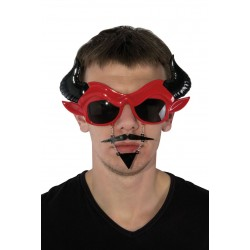 Lunettes de Diable Adulte Rouge - Déguisement Diable Adulte Halloween The Duck