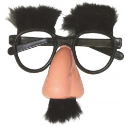 Lunettes Groucho Adulte avec nez, sourcils et moustache
